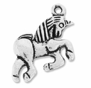 Antiqued Silver 25mm Unicorn Charm  (10PK)