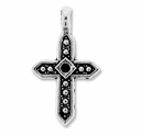 Antiqued Silver 28mm Marcasite Cross Pendant