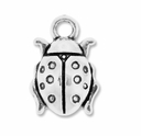 Antiqued Silver 20mm Ladybug Charms (5PK)