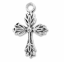 Antiqued Silver 26mm Cross Charms (10PK)