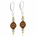 Silver and Gold Swirl Earring Design Kit
