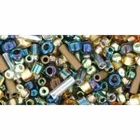 TOHO Raiden Gold Green Blue Seed Bead Mix