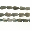 Labradorite 5-10mm Hand Cut Tear-Drop Bead (D Grade) 14 Inch Strand
