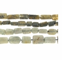Labradorite 5-12mm Hand Cut Rectangle Bead (D Grade) 14 Inch Strand