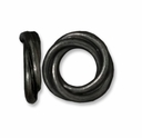 Black Finish 12mm Twisted Spacer Large Hole Bead (1PC)