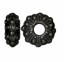 Black Finish 12.5mm Casbah Euro Large Hole Bead (1PC)