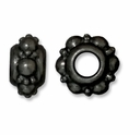 Black Finish 10mm Turkish Euro Large Hole Bead (1PC)