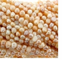 Natural Mix Baroque Potato  Freshwater Pearl 5mm Bead Strand