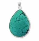 Natural Turquoise 42mm to 65mm Oval Pendant (1PC)
