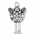 Antiqued Silver Girl Fairy Charm  (10PK)