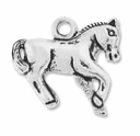 Antiqued Silver Plated Horse Charm (5PK)