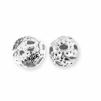 Silver Plate Filigree 4mm Beads (50PK)