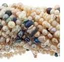 Mulit-Color & Size Baroque Freshwater Pearl 3-6mm Bead Strand