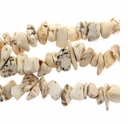 10-15mm White Turquoise Nugget  Beads 16 Inch