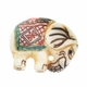 Hand Carved Bone Elephant Bead (1PC)