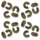 Antiqued Brass 4mm Crimp Cover (100PK)