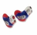 Porcelain Cute Rooster 28x24mm Bead (2PK)