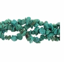 Turquoise 5-7mm Blue Green Chip Beads 32 Inch Strand