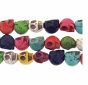 12mm Mixed (IM)Turquoise Skull Beads 16 In Strand