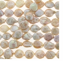 Natural Lt. Pink Coin Freshwater Pearl 12-13mm Bead Strand