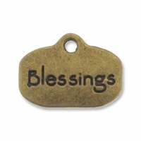 Antiqued Brass Blessings Charm