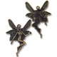 Antiqued Brass 44mm Fairy Pendant