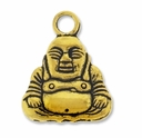 Antiqued Gold 19mm Buddha Charm
