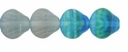 Czech Hurricane Glass Sea Shell 9mm Matte High Tide/Low Tide Mix (25PK)