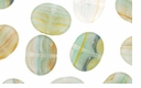 Czech Hurricane Glass Loose Wide Flat Ovals 10/12mm Arctic Ice Lights (12PK)
