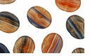 Czech Hurricane Glass Loose Wide Flat Ovals 10/12mm Orange Sunset (12PK)