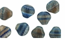 Czech Hurricane Glass Loose Sea Shells 9mm Moonlight Bay (25PK)