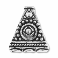 Antiqued Silver Triangle 3 to 1 End Beads (4PK)