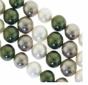 Multi Color 013 10mm South Sea Pearls 16-Inch Strand