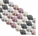 Multi Color 538  8mm South Sea Pearls 16-Inch Strand