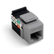 Leviton 5G108-RG5 GigaMax 5e QuickPort Connector, CAT 5e, grey