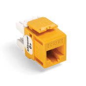 Leviton 61110-RY6  eXtreme 6+ QuickPort Connector, CAT 6, yellow