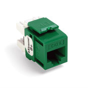 Leviton 61110-RV6  eXtreme 6+ QuickPort Connector, CAT 6, green