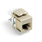 Leviton 61110-RI6  eXtreme 6+ QuickPort Connector, CAT 6, ivory