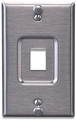 Leviton's QuickPort� Stainless Steel Wallphone Wallplate