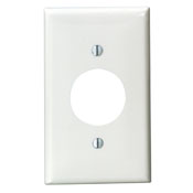 Leviton 1-Gang Single Hole Wallplate