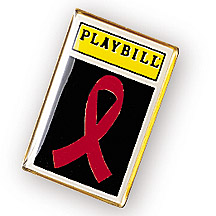 PLAYBILL RED RIBBON PIN
