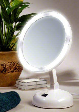 10x Daylight Fluorescent Lighted Makeup Mirror