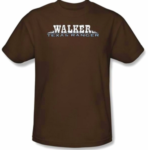 Walker Texas Ranger T-Shirt - Logo Adult Brown