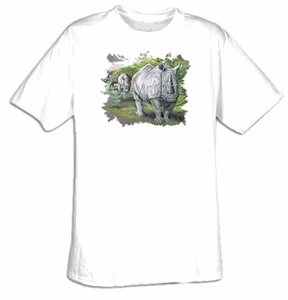 Rhinoceros T-shirt - Rhino African Safari Wildlife Tee Shirt