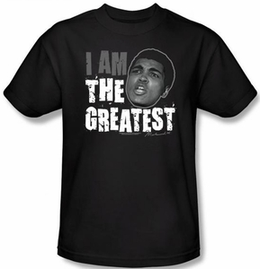 Muhammad Ali T-shirt Adult I Am The Greatest Black Tee Shirt