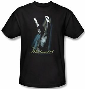 Muhammad Ali T-shirt  Raised Fists Black Tee Shirt