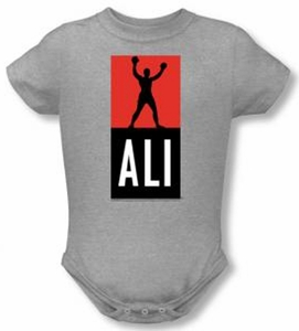 Muhammad Ali Baby Romper Infant Creeper Ali Logo Athletic Heather