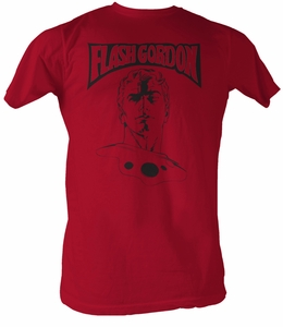 Flash Gordon T-Shirt - Adult Red Tee Shirt