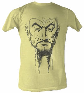 Flash Gordon T-Shirt - Ming Mug 2 Adult Yellow Heather Tee Shirt