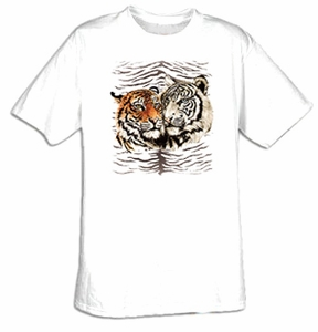Tiger T-shirt - Wildlife Family Adult Tee Shirt